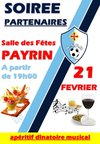 SOIREE SPONSORS 21 FEVRIER 2015 - A.S. Payrin Rigautou