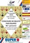Belote 10 novembre 2016 - Entente Sportive La Croisille Linards