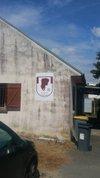 Premier panneau USA.FC  posé au stade de Chezy Sur Marne - Union Sud Aisne Football Club