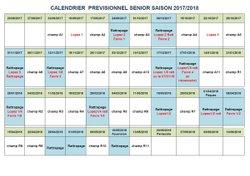 Calendrier prévisionnel 2017/2018 - A.S Saissac-Cabardès