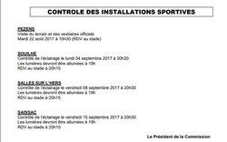 Contrôle éclairage du stade - A.S Saissac-Cabardès