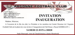 Inauguration club house Pascal Godbillot le 23/06 à 18h30