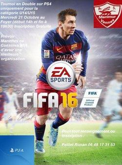 Tournoi Fifa 16 sur Console Playstation 4