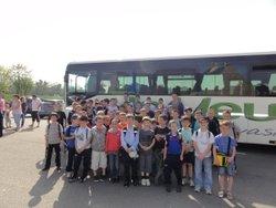 l'école de foot au départ pour Lorient - amicale sportive de saint-yvi
