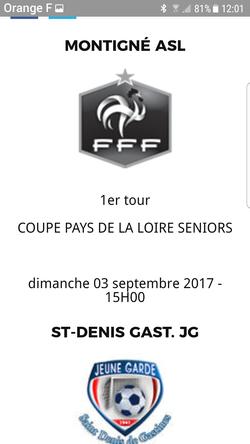 Match de coupe - A.S.L.Montigné-le-Brillant
