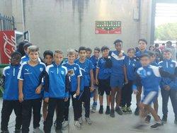 LES U13 POUR LE MATCH MHSC PSG - AS MONTARNAUD FOOTBALL