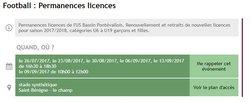 Permanences de U13 à U19 - AS Saint Etienne sur Reyssouze