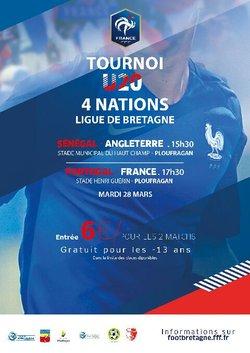Evénement : Tournoi des 4 nations U20 : mardi 28 mars 2017