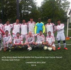 SAISON 2013-2014 EQUIPE CHAMPIONNE DIV 4 - BONNEUIL EN FRANCE