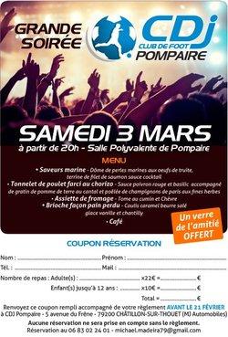 Diner Dansant du CDJP - Club des Jeunes POMPAIRE