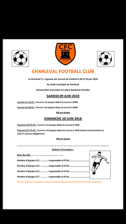 Tournoi - CHARLEVAL FC