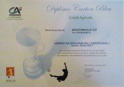 Remise carton bleu - Cercle Omnisport de BOUZONVILLE