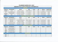 planning semaine 6