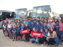 Les bleuets supporters des bleus pour France USA à Lyon - Entente Football Châtaigneraie Veinazes