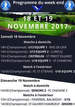 matchs du week end - Entente Sportive Saint Christo Marcenod Football