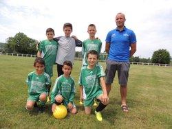 l'équipe des U11 avec les coach David LEBEAU (Toulon) et Thierry BUISSON (Luzy). - E.S. TOULON