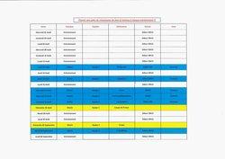 Planning des entraînements et des matchs amicaux d'avant saison 2018/2019. - Etoile Sportive de Château-Larcher
