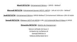 Programme - Semaine du 28/11/16 au 04/12/16 - Etoile Sportive Saint Aubin Celloville / Belbeuf