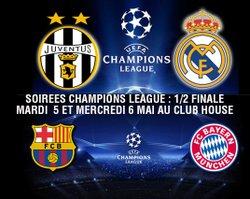 1/2 FINALES DE CHAMPIONS LEAGUE