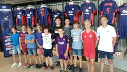 "Visite surprise du ""Groupama Stadium"" pour les U13 - Football Club Larnage-Serves"