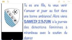Journée de détection Féminine - Football-Club du Canton de Mirambeau