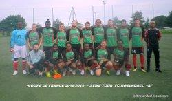 CLAP DE FIN DU FC ROSENDAEL EN COUPE DE FRANCE 2018:2019 - FOOTBALL CLUB DE ROSENDAEL