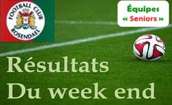 Résultats seniors A dimanche 03/06 - FOOTBALL CLUB DE ROSENDAEL