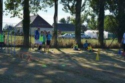 Premier entraînement de l école de foot -  fc petit caux