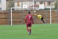 Les U17 du FCPJ face à l'Olympique de Rillieux ... Coupe du Rhône - FOOTBALL CLUB  POINT DU JOUR