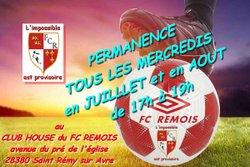PERMANENCE  juillet et aout 2017 - FC REMOIS