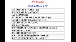 Poule équipe B 2017-2018