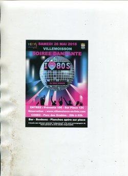 soirée année 80 - FOOT CLUB  VILLEMOISSON