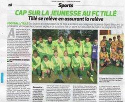 CAP SUR LA JEUNESSE AU FC TILLE L'OBSERVATEUR DE BEAUVAIS DU 12/01/2018 - FC Tillé