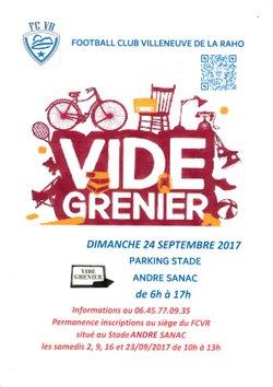 vide grenier - Football Club Villeneuve de la Raho (FCVR)