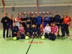 Remise officielle des équipements sportifs + photo adhérents 2015 - Association Foot en salle Lensois d'Envermeu