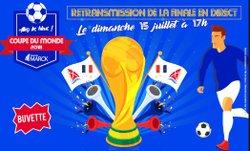 Finale France-Croatie retransmise en direct à Houtaud à 17h