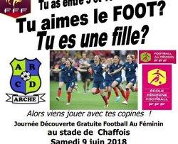 Journée Découverte pour les filles le samedi 9 juin à Chaffois