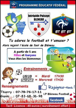 Ecole de foot - I.P BLÉNEAU FOOTBALL