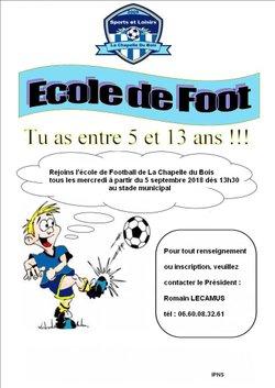 une nouvelle saison qui commence - Sport et Loisirs La Chapelle Du Bois