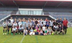 Les U17 du PSG( les vrai) à l'entrainement au Stade Iles de La Pierre à St André Mai 2017 - La Saint André Football