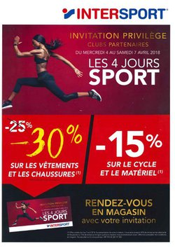 Partenariat Enfants de Guer - Intersport