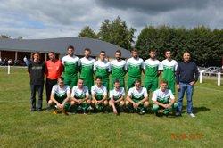 """Remise de maillots par """" La Vapoterie , Le Creusot"""" - Football Club de MARMAGNE"""