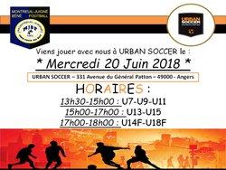 Créneaux Urban Soccer - MONTREUIL-JUIGNÉ BÉNÉ FOOTBALL