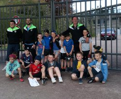 Photos BFC-STADE MALHERBE Les U11 ramasseurs de balle - Union Sportive de Maisons