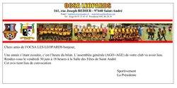 AGO + AGE le 30 juin 2017 - OCSA Léopards