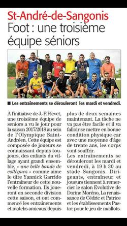 Nouvelle équipe à St ANDRÉ