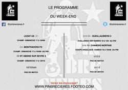 PROGRAMME DU WEEK END  ( 16 ET 17 DECEMBRE )