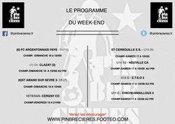 PROGRAMME DU WEEK END ( 17 ET 18 MARS)
