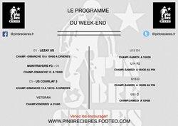 PROGRAMME  DU WEEK END  ( 14 ET 15 AVRIL)