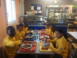 Déjeuner des U13 du PA au centre de formation du MHSC - Pôle Avenir Meudon